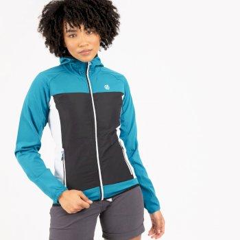 Duplicity Softshell-Kapuzenjacke für Damen Blau