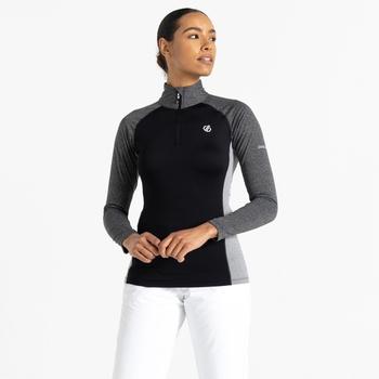 Involved II leichter Core Stretch-Midlayer mit halblangem Reißverschluss für Damen Schwarz