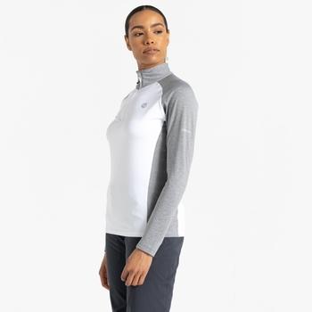 Involved II leichter Core Stretch-Midlayer mit halblangem Reißverschluss für Damen Weiß