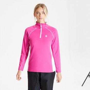 Involved II leichter Core Stretch-Midlayer mit halblangem Reißverschluss für Damen Rosa
