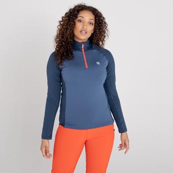 Involved II leichter Core Stretch-Midlayer mit halblangem Reißverschluss für Damen Blau
