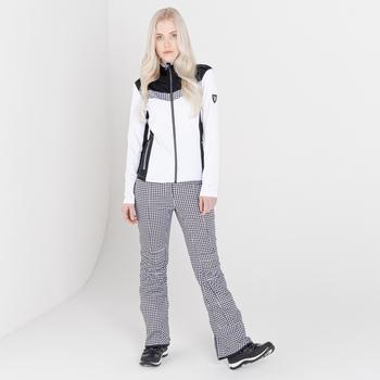 Swarovski Embellished - Inspired Luxe wasserdichte Skihose für Damen Weiß