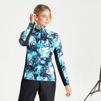 Divulge leichter Core Stretch-Midlayer mit halblangem Reißverschluss für Damen Blau