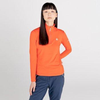 Lowline II leichter Core Stretch-Midlayer mit halblangem Reißverschluss für Damen Orange