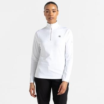Lowline II leichter Core Stretch-Midlayer mit halblangem Reißverschluss für Damen Weiß
