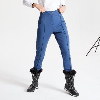 Dare 2b Swarovski Embellished - Women's Sleek Waterproof Luxe Ski Pants - Dark Denim