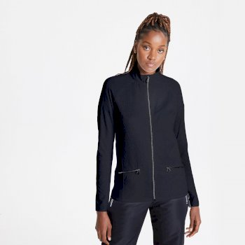 Dare 2b Swarovski Embellished - Women's Solaria II Full Zip Luxe Core Stretch Midlayer - Black