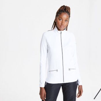 Dare 2b Swarovski Embellished - Women's Solaria II Full Zip Luxe Core Stretch Midlayer - White