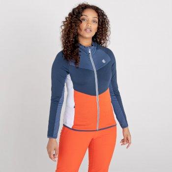 Elation Core Stretch-Midlayer mit durchgehendem Reißverschluss für Damen Blau