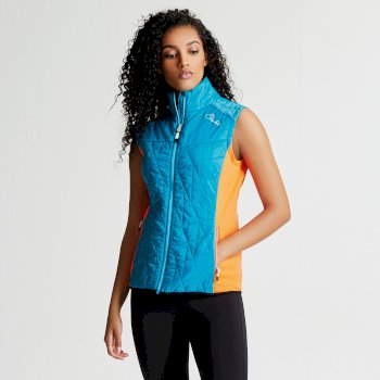 Dare2b Women's Decorous Wool Fill Gilet Sea Breeze Blue Bahama Blue