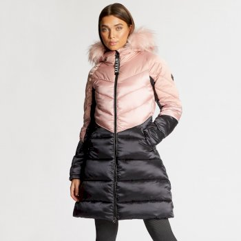 Dare 2B x Julien Macdonald Baroness - Damen Stepp-Parka Blush
