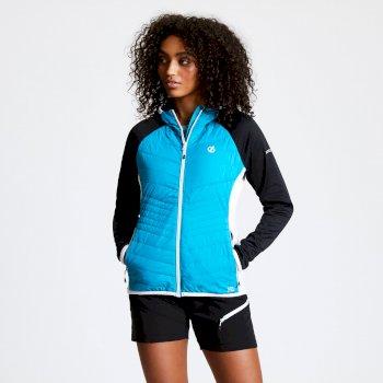 Nominate Woll-Hybrid-Baffle-Jacke mit Kapuze für Damen Blau