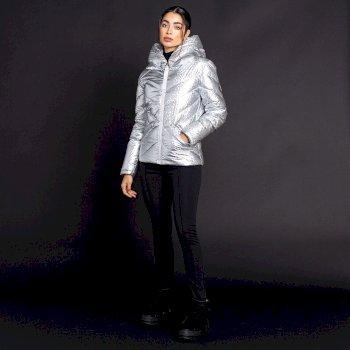Dare 2b X Julien Macdonald - Gebieterische Isolierte Skijacke für Damen Silber
