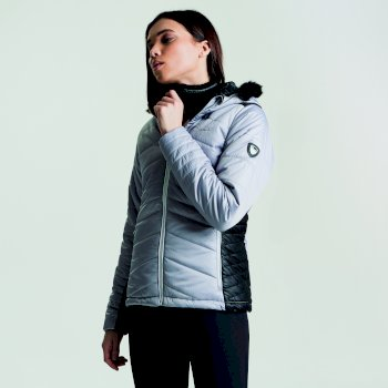 Dare 2b Women's Comprise Luxe Ski Jacket - Silver Flash Black