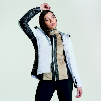 Dare 2b Women's Comprise Luxe Ski Jacket - White Black