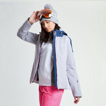 Dare 2b Women's Contrive Ski Jacket - Silver Flash Blue Wing