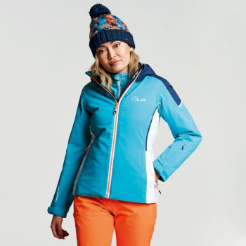Dare 2b Women's Contrive Ski Jacket - Aqua Blue  Wing