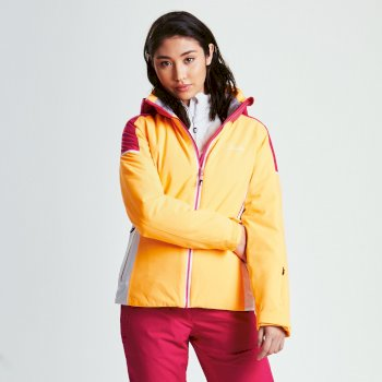Dare 2b Women's Contrive Ski Jacket - Orange Burst Pink Fusion