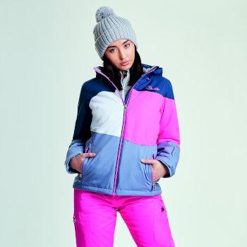 Dare 2b Women's Indestruct Ski Jacket - Blue Wing Luminous Pink