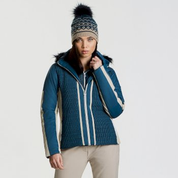 Dare 2b Women's Statement Luxe Ski Jacket - Blue Wing Macchiato