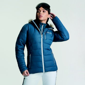Dare 2b Women's Curator Luxe Ski Jacket - Blue Wing