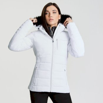 Dare2b Women's Curator Luxe Ski Jacket White