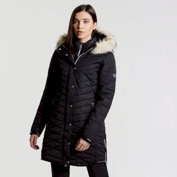 Svelte Luxe Damen-Skijacke schwarz