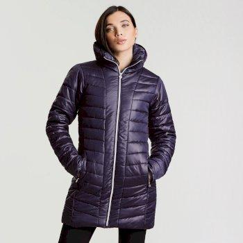 Longline Luxe Damen-Skijacke königsblau