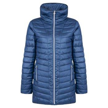 Longline Luxe Damen-Skijacke Blue Wing