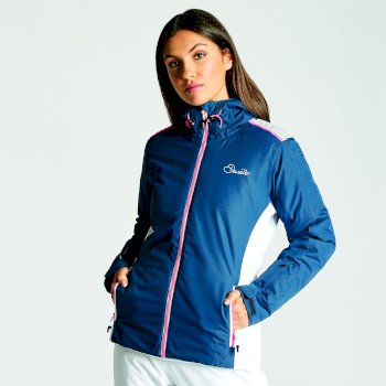Dare2b Women's Project Ski Jacket Blue Wing Silver Flash
