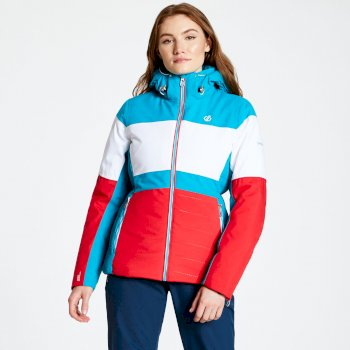 Avowal - Damen Skijacke Lollipop Red White Freshwater Blue