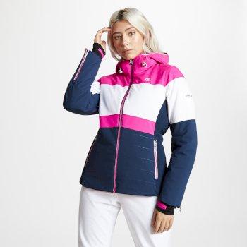 Avowal - Damen Skijacke Blue Wing White Cyber Pink