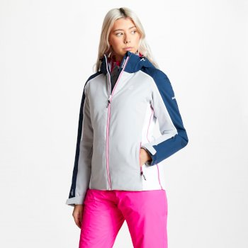 Comity - Damen Skijacke Argent Grey Blue Wing