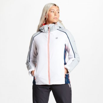Comity - Damen Skijacke White Argent Grey
