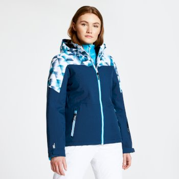Purview - Damen Skijacke Blue Wing Kaleidascope