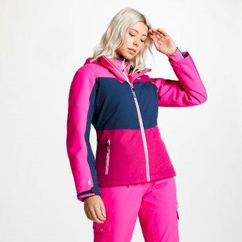 Purview - Damen Skijacke Fuchsia Blue Wing Cyber Pink