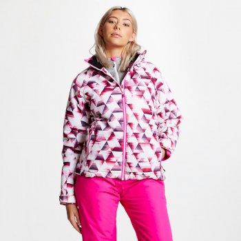 Encompass - Damen Skijacke - Kaleidoscope-Print Cyber Pink