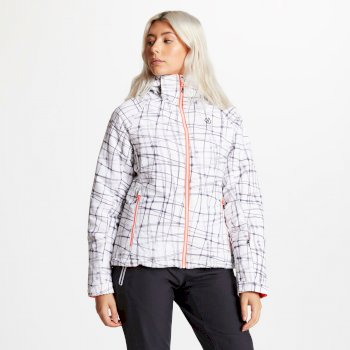 Encompass - Damen Skijacke - Kaleidoscope-Print White