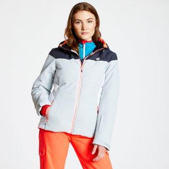 Sightly - Damen Skijacke Argent Grey Ebony