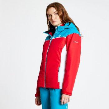 Sightly - Damen Skijacke Lollipop Red Freshwater Blue
