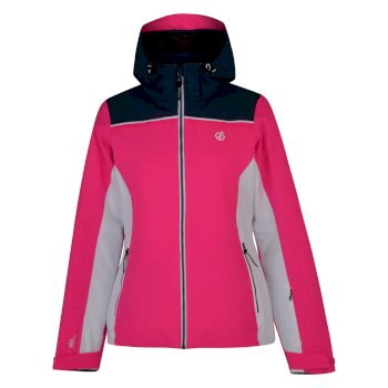 Validate - Damen Skijacke Cyber Pink Blue Wing