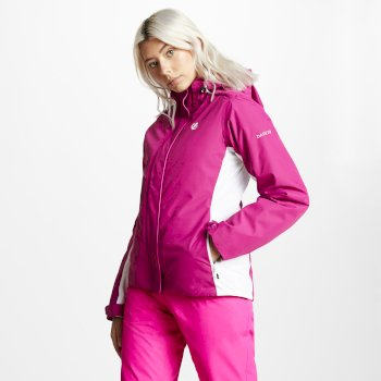 Dare2b Women's Urgency Ski Jacket - Fuchsia White