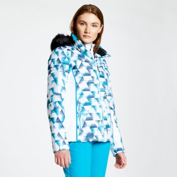Copious - Damen Skijacke mit Kaleidoscope-Print Blue Wing