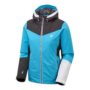 Ice Gleam wasserdichte, isolierte Skijacke mit Kapuze für Damen Blau