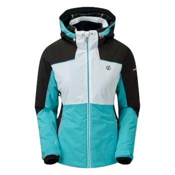 Flourish wasserdichte, isolierte Skijacke mit Kapuze für Damen Blau