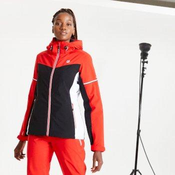 Enclave wasserdichte, isolierte Skijacke mit Kapuze für Damen Rot