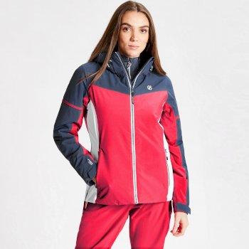 Enclave wasserdichte, isolierte Skijacke mit Kapuze für Damen Rosa