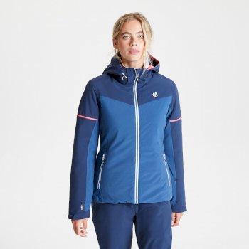 Enclave wasserdichte, isolierte Skijacke mit Kapuze für Damen Blau