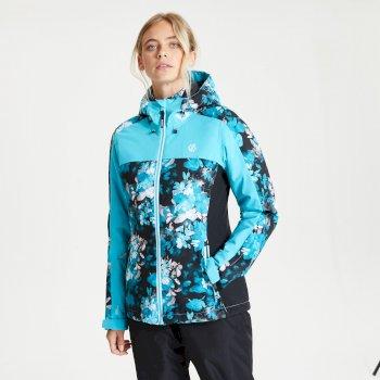 Burgeon wasserdichte, isolierte Skijacke mit Kapuze für Damen Blau