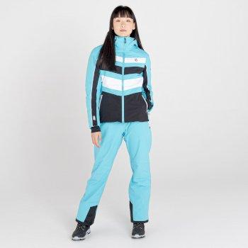 Provenance wasserdichte, isolierte Skijacke mit Kapuze für Damen Blau